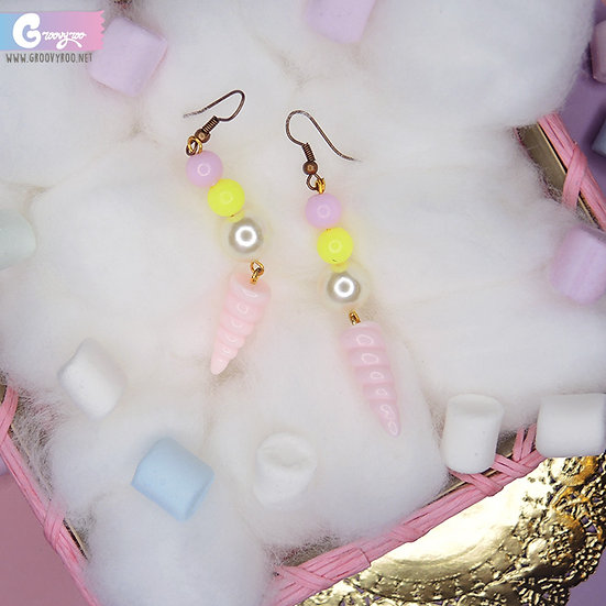 Pink Unicorn Horn Drop Earrings in Different Colours