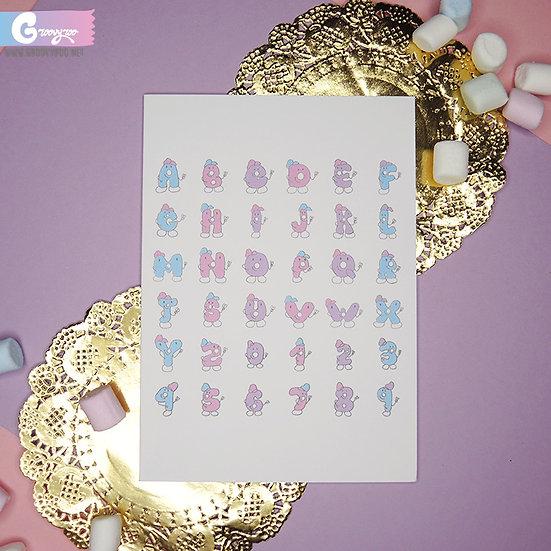 Kawaii Alphabet ABC Greeting Card