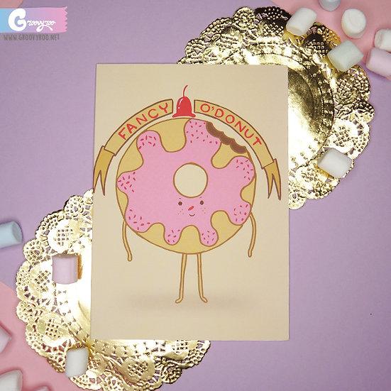 Fancy O'Donut Greeting Card