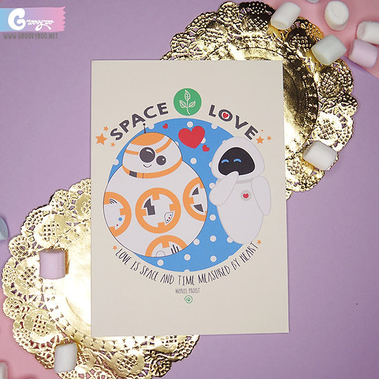 Star Wars x Wall-e - Space Love - Greeting Card