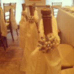 Linens, napkins, chair decor, tableware, glassware