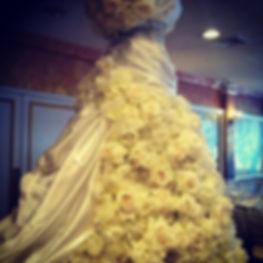 Floral & Satin Bridal Gown