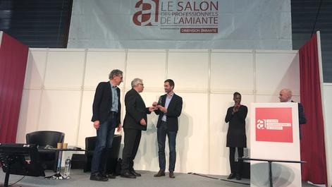 Valame, partenaire de Neo-Eco, reçoit le trophée de l'innovation amiante 2019