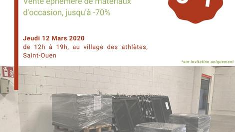Vente éphémère de matériaux de réemploi ce jeudi 12 mars