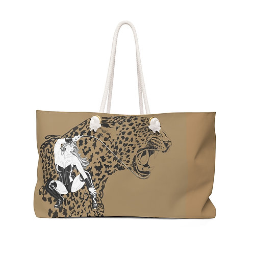 Phoenix the Jaguar Weekender Bag - tan
