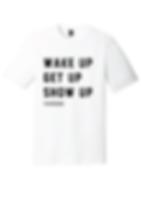 White tri-blend shirt