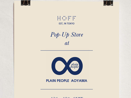Pop-Up Store at 『Plain People Aoyama』