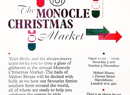 The MONOCLE Christmas Market at Midori House