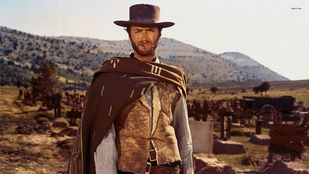 Clint Eastwood in the 1966 film, The Good, the Bad, and the Ugly