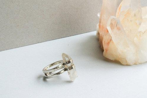 Quartz in Silver Ring