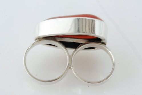 Carnelian Two-Finger Ring
