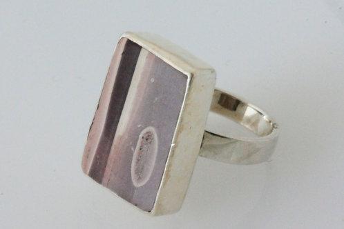 Chunky Zebra Stone Ring