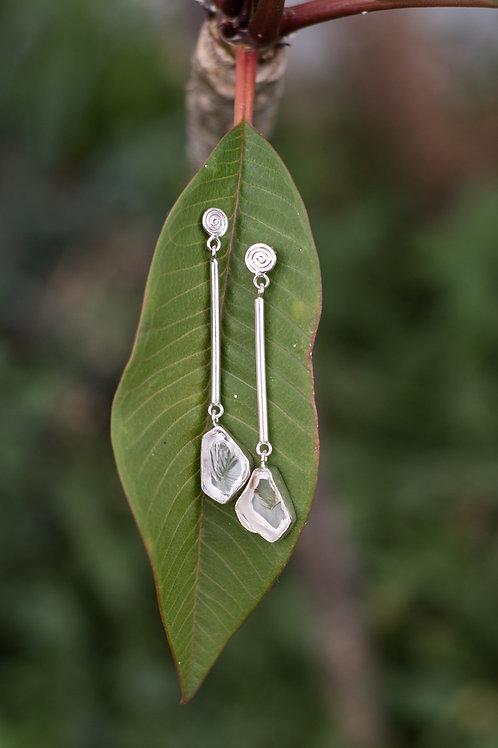Ice Cube Quartz Earrings