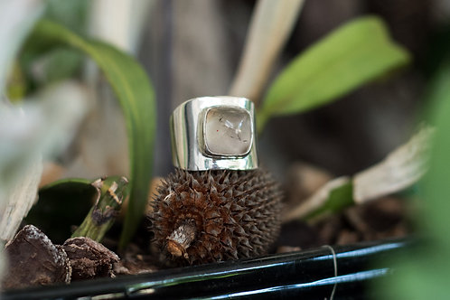 Smokey Quartz Silver Ring