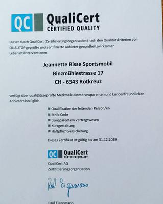Zertifizierung durch QualiCert