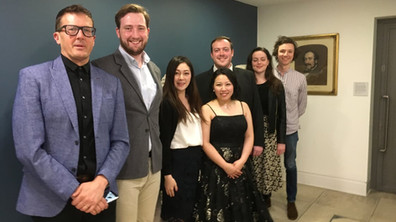 This year's award winners gather at Paul Grant and Shiori Hosoda recital