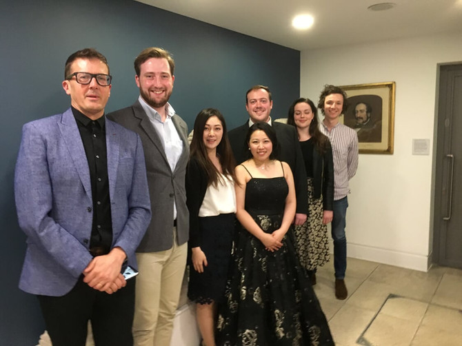 This year's award winners gather at Paul Grant and Shiori Hosoda recital