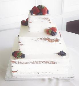 Vanilla Strawberry Wedding Cake