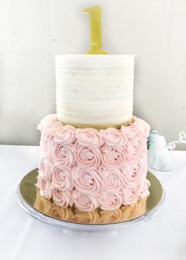 "Sugar Cookie ""1st"" Birthday Cake"
