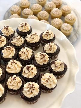 Dark Chocolate Salted Caramel Mini Cupcakes