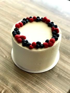 Blueberry, Raspberry, Vanilla Cake
