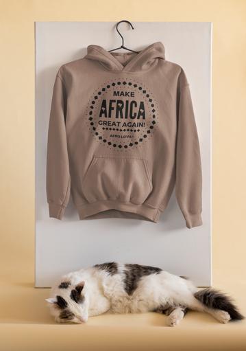 Swaet à capuche moka Make Africa Great A