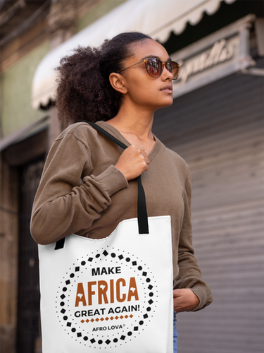 Tote bag Afro Lova make Africa great again
