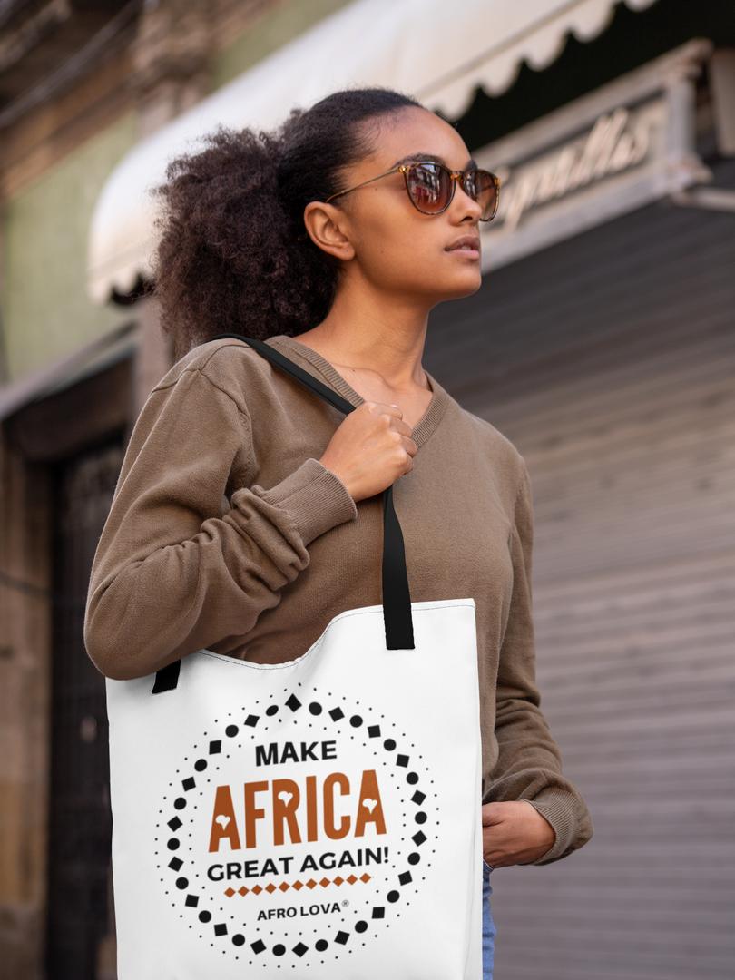 Tote bag Afro Lova make Africa great again