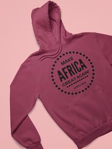 Swaet à capuche rouge bordeaux Make Afri