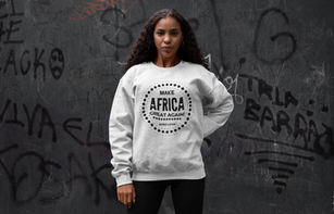 Pull gris Make Africa Great Again Femme