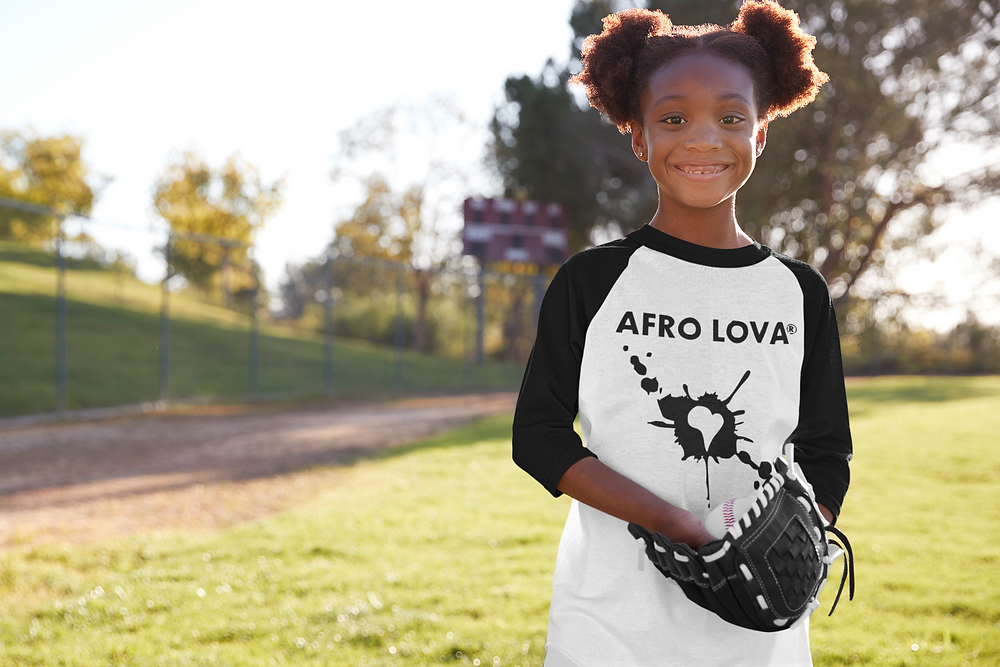 tshirt afro lova africain enfant fille ecole sport manches longues