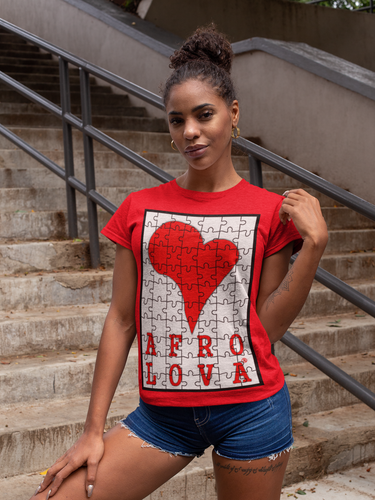 T-shirt Afro Lova puzzle