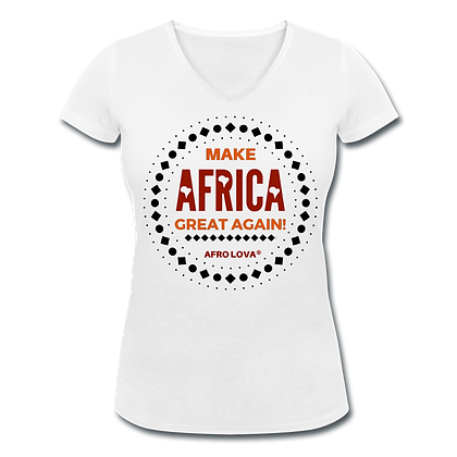 T-shirt col V Make Africa
