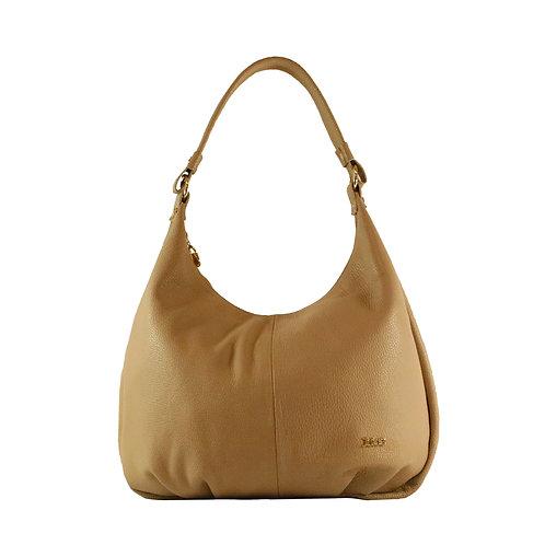 Tumbled genuine leather handbag art. 214B