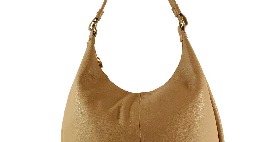 Tumbled genuine leather shoulder bag art. 214B