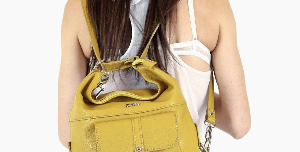 Tumbled genuine leather backpack art. 004