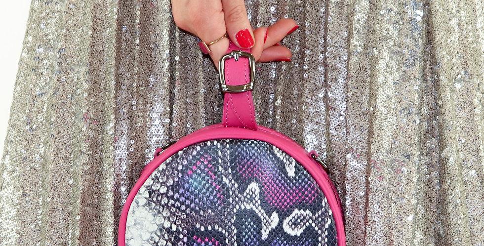 Soft and printed genuine leather handbag art. 136
