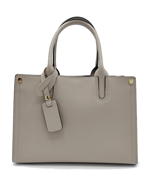 Plain genuine leather handbag art. 298