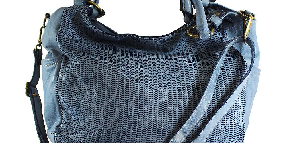 Washed genuine leather handbag art. 061