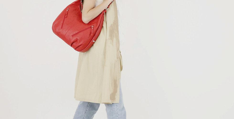 Soft embossed and tumbled genuine leather handbag art. 170