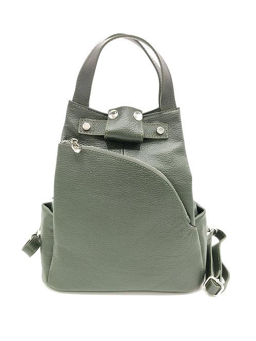 Tumbled genuine leather backpack art. 288