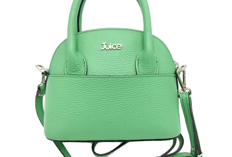 Tumbled genuine leather handbag art. 314