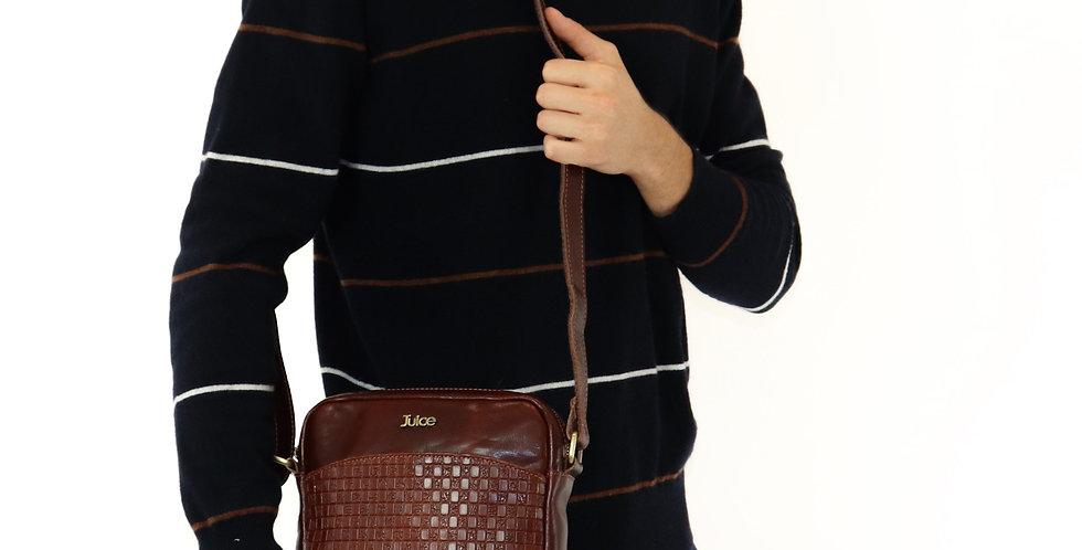 Hand buffered leather shoulder bag art. 220