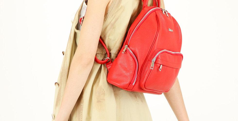 Tumbled genuine leather backpack art. 091