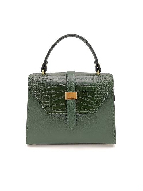 Tumbled and printed croco genuine leather handbag art. 269