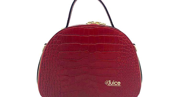 Printed croco genuine leather handbag art. 208