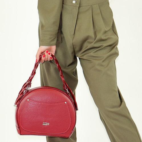 Tumbled genuine leather handbag art. 196