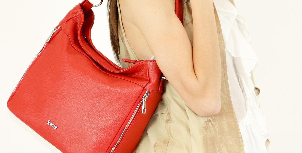 Tumbled genuine leather handbag art. 053