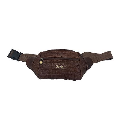 Hand buffered leather belt and crossbody bag art. 221