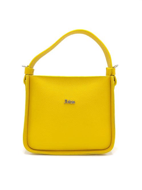 Tumbled genuine leather handbag art. 302